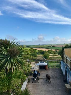 Kid and dog friendly beer garden with stunning views