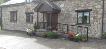 Front view of Henblas Holiday Cottage