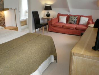 Suite designed for two but will sleep up to 4 with sofabed