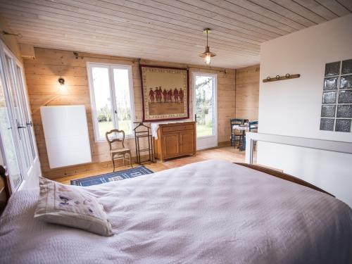 Double-Standard-Salle de bain privée séparée-Vue sur Jardin-Laurier Rose