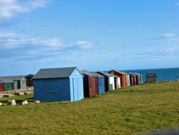 Huts at Portland Bill