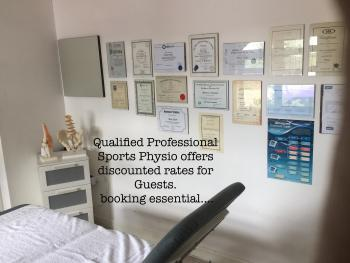 Professional Sports Physio treatment at Woodpaddock (room 10)