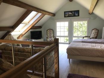 Mezzanine ou deux lits peuvent être mis
