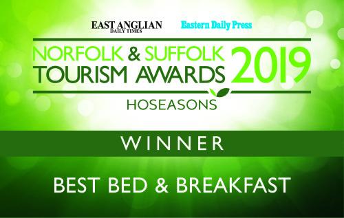 Winner of Best Bed and Breakfast Award