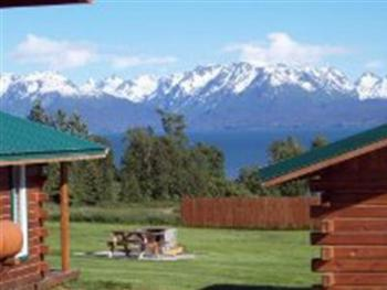 Beautiful views of Kachemak Bay, glaciers and the Homer Spit. Fully equipped cabins in convenient location. Open year round!