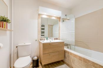 Bathroom with bath, shower and toilet