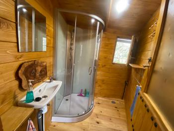 Small Yurt ~ bathroom