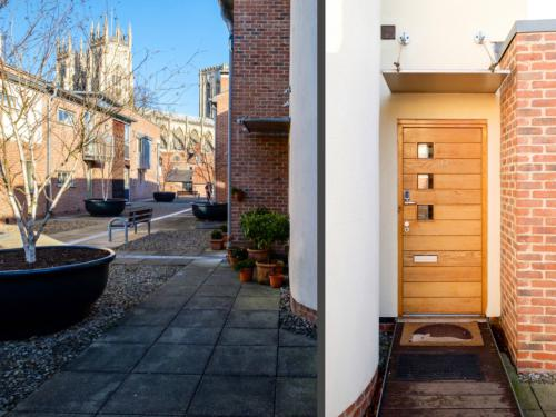 Our front door with stunning views of York Minster