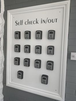 Check in /out board