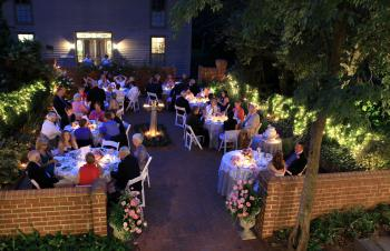 Patio Reception at Night