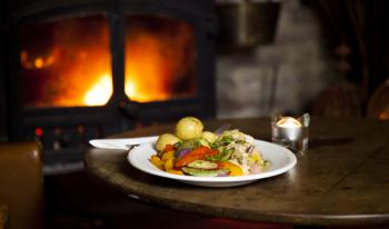 Enjoy our great food in front of a warm fire on a winters night