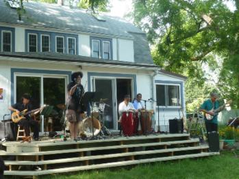 back yard concert. lovely!