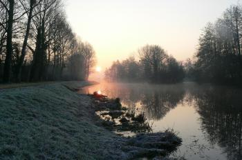 Le Canal de Nantes à Brest en hiver