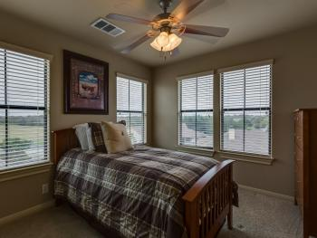 3rd Bedroom has a twin Trundle bed.  It's easily modified for 2 twin beds.