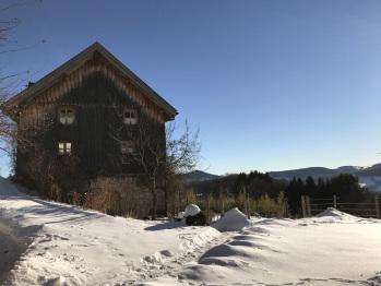 Façade ouest sous la neige