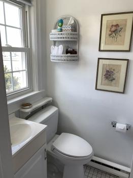 West window--walk in shower