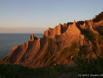 Chimney Bluffs State park - our most famous is a fun to hike with it unique clay spires.