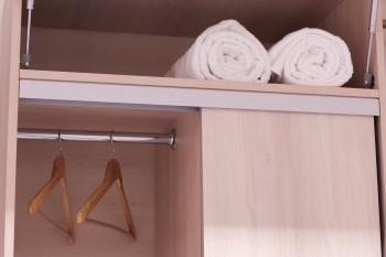 Fresh Towels and Cubbord