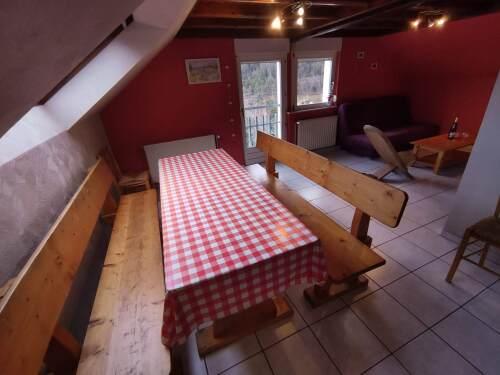 Gîte-Élodie-Famille-Salle de bain-Vue sur Montagne