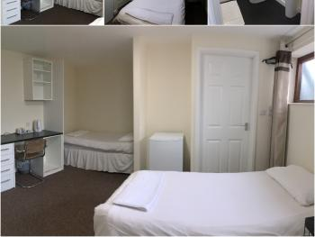 Twin room with En-sute (ground floor available)
