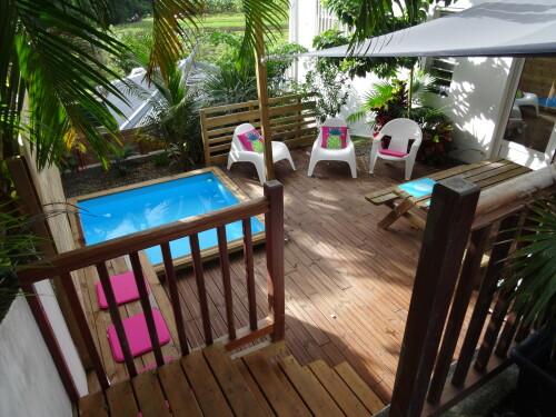 Appartement-Confort-Douche-Vue sur la campagne-Lodge Cocotier - Tarifa Base