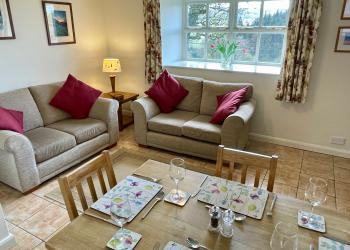 Bluebell Cottage living room (self-catering)