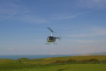 Guests Arriving at our Paddock by Helicopter