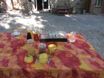 Mas Bazan, petit déjeuner avec produits locaux