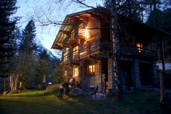 Evening time at the Chalet