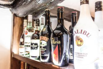 A range of spirits available