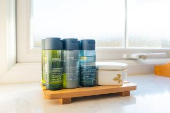 Luxury shampoos and shower gels are provided