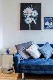 QF1 - Beautiful royal blue interior deco