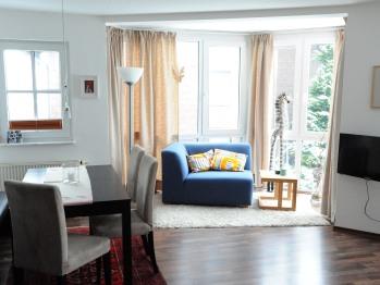 Apartment-Ensuite Dusche-Bergblick