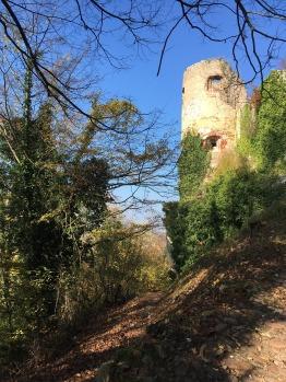 Accès direct pour une promenade au château