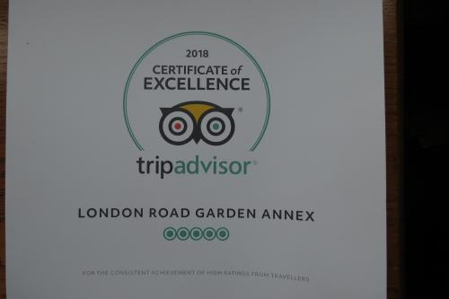 tripadvisor awarded 2018 Certificate of Excellence