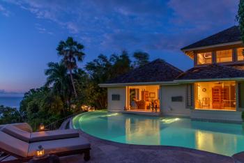 Master Villa Pool at Night