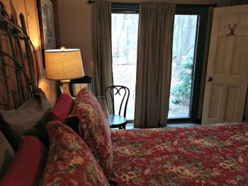 Woodview Room #1 View of Private Deck from Bedroom