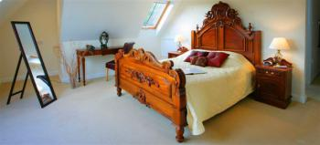 The ornate bed