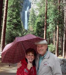 David & Sheran by Yosemite Falls