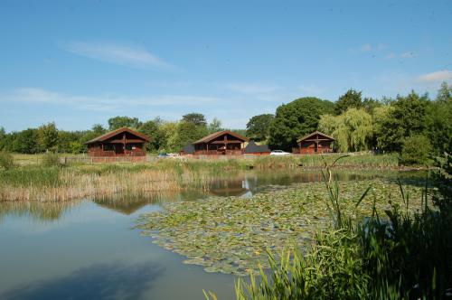 The Three Lodges overlooking the lake