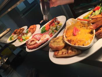 Just an example of the bar food available.