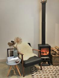 While away the hours with by the woodburning stove