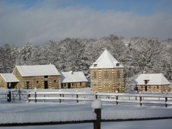 Le Hameau, le Parc sous la neige