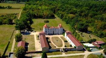 Château des Périchons vu du ciel