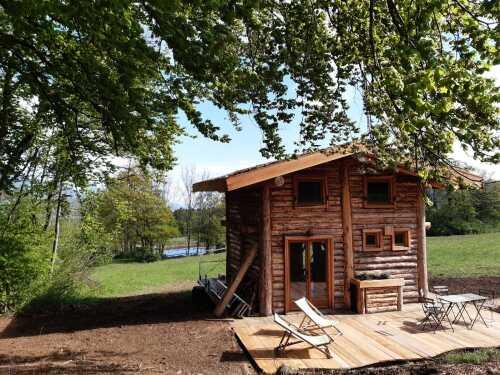 Cabane-d'exception-Douche-Vue sur Montagne-cabane en rondin - tarif site web