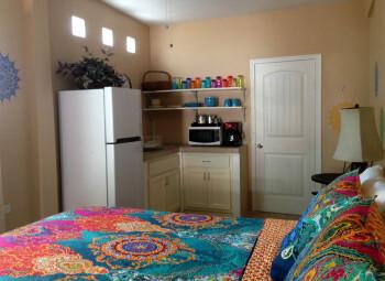 Bedroom Facing Kitchenette