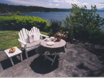 Patio of the Bay Cottage