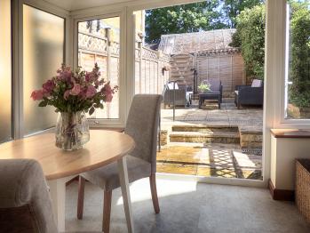 Patio doors to garden