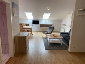 Familien Appartement Stadtblick Wohnzimmer