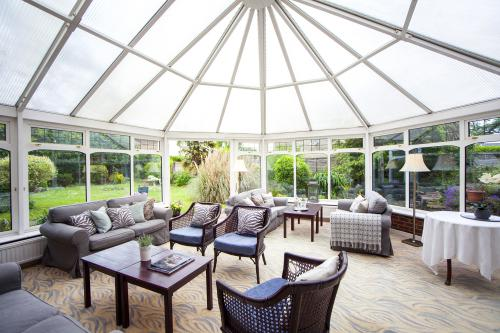Relax in our sunny conservatory